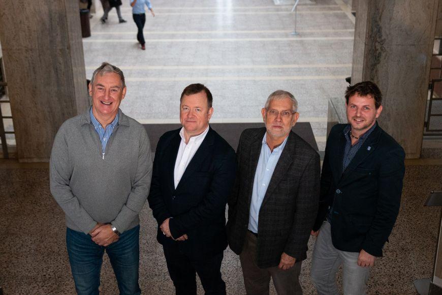 (zleva) William J. McCluskey, Peadar Davis, Riël Franzsen aMichal Radvan.
