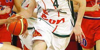 Jana Veselá (Gambrinus SIKA Brno) při jednom z utkání evropské ligy.
