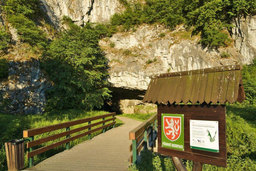 Vstup do Sloupsko-šošůvských jeskyní.