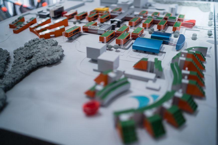 Na místě je model ukazující jednu zmožných podob univerzitního kampusu vBohunicích.