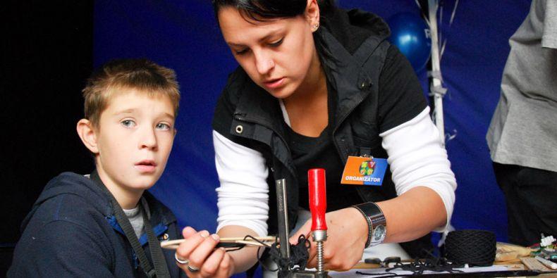 Bohatý program zejména pro děti nabídla katedra technické a informační výchovy. Foto: Katarína Jablonská.