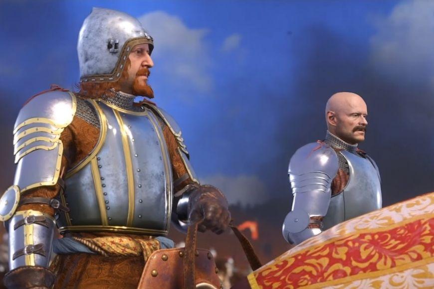Hlavní záporné postavy hry: Král Zikmund aMarkvart zÚlic při obléhání Skalice.
