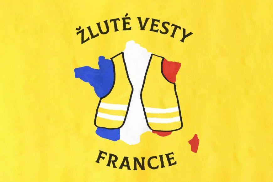 Vizuál reportáže zFrancie otakzvaných demonstracích žlutých vest.