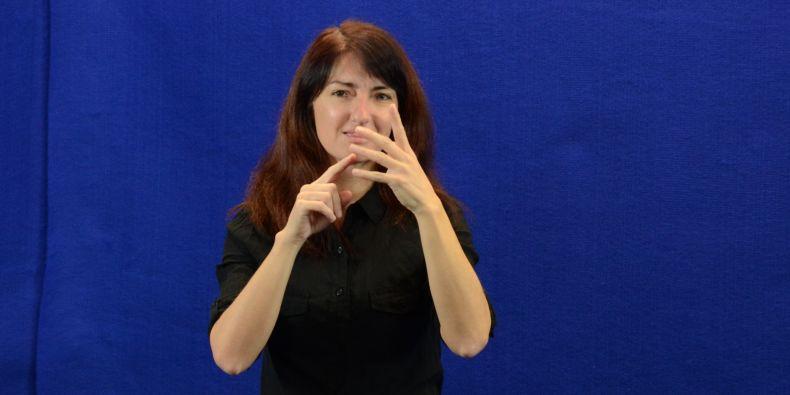 Příprava videozáznamů do slovníku znakového jazyka.