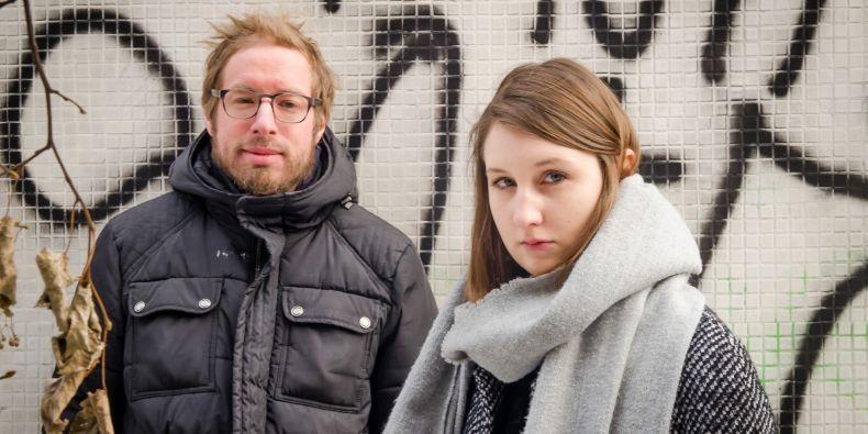Vyučující Filip Johánek a studentka Veronika Sellnerová.
