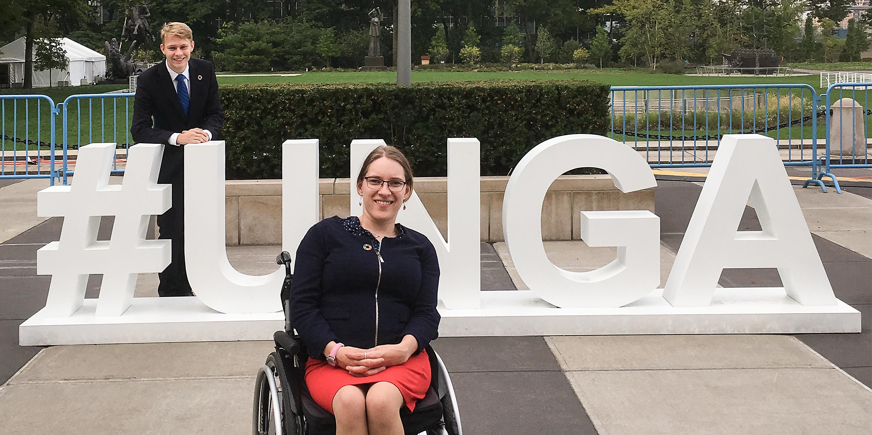 Foto: Doktorandka na vozíčku zastupuje mládež v OSN