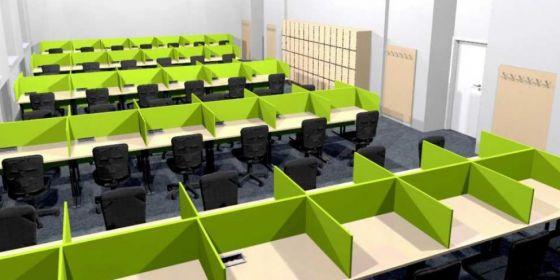 Učebnu čeká letní upgrade. Studijní zóna bude zahrnovat trojici místností s celkem 115 počítači, které budou od sebe oddělené paravány.