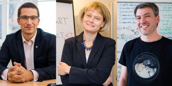 Loňští vítězové ceny rektora pro vynikající pedagogy: Stanislav Balík, Markéta Munzarová a Jan Strejček.