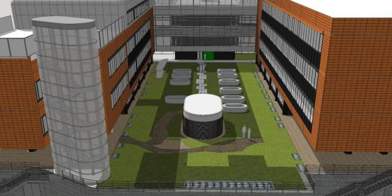 Stavba má být hotová na jaře 2019. Půjde o budovu se dvěma podzemními patry, kde budou kromě skladovacích zařízení i nové laboratoře.